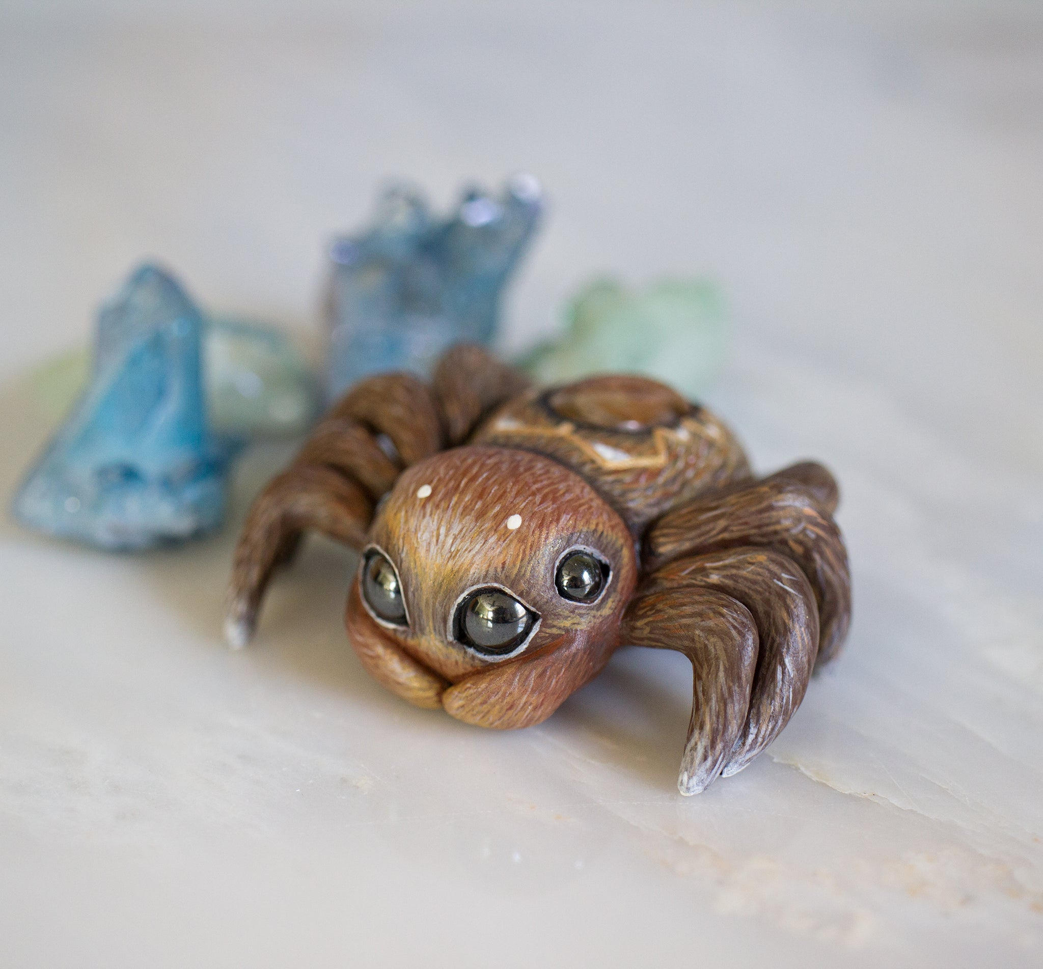 Sunstone Spider Figurine