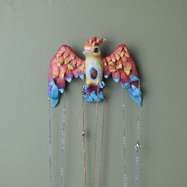 Phoenix Wall Hanging Jewelry Holder