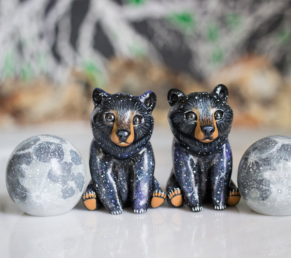 Galaxy Bear and Moon Set