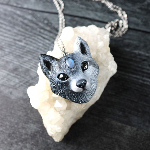 RESERVED Wolf Necklace