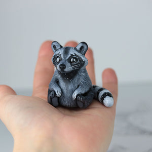RESERVED Starry Raccoon Figurine