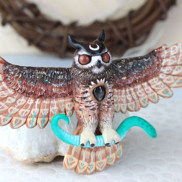 RESERVED Final Payment Sunstone Owl Wall Figurine