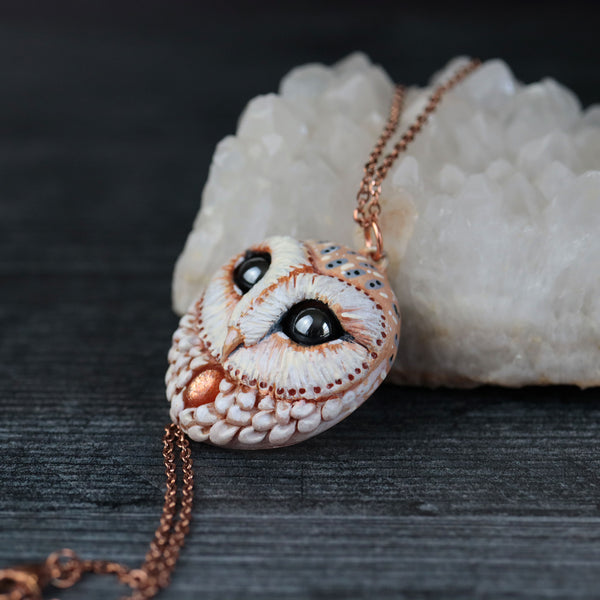 RESERVED Moonstone Wolf Necklace and Sunstone Owl Necklace