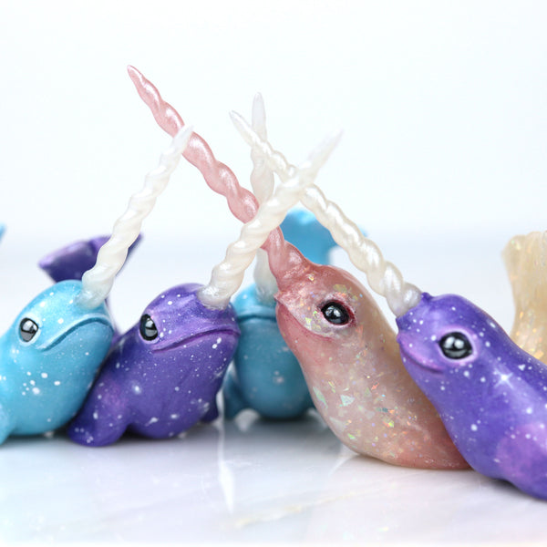 Purple Narwhal Figurine