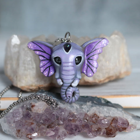 Mystic Quartz Butterfant Necklace