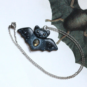 Labradorite Bat Necklace
