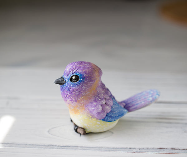 Pastel Bird Figurine