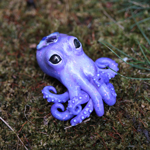 Blue Amethyst Octopus Figurine