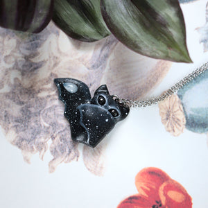 Preorder Bat Necklace Wing Folded