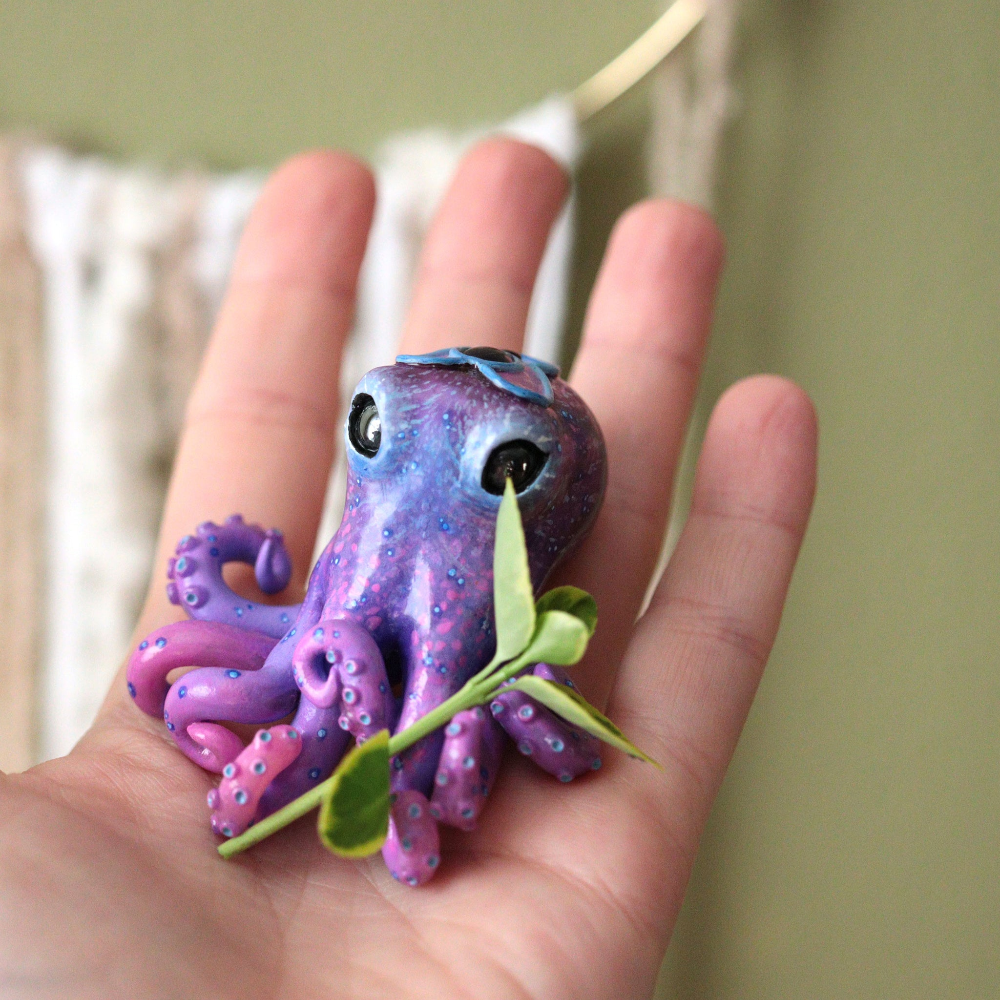 Purple Amethyst Octopus Figurine