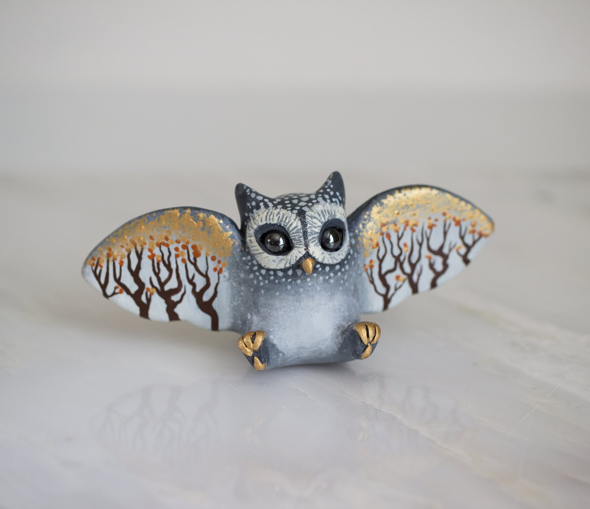 Autumn Owl Figurine