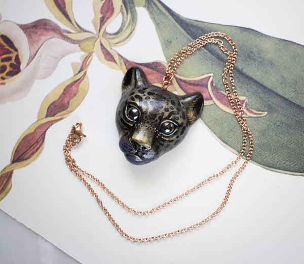Spotted Gold Panther Necklace