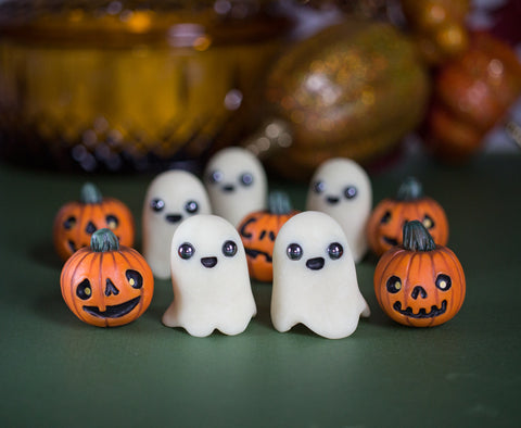 Spoopy Ghost and Pumpkin Set