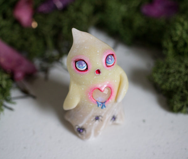 Lonely Pink Ghost Figurine