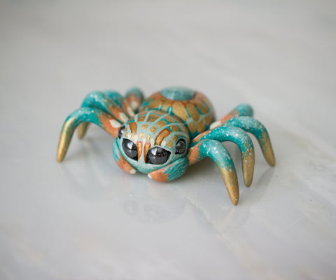 Amazonite Spider Figurine
