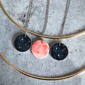 Peachy Moon Reversible Necklace