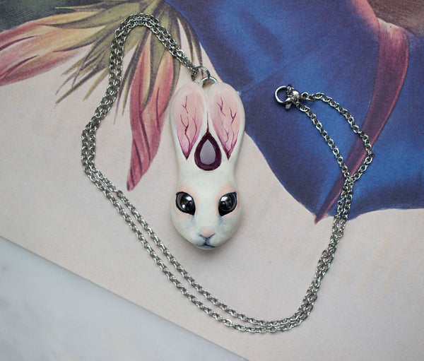 Amethyst Rabbit Necklace