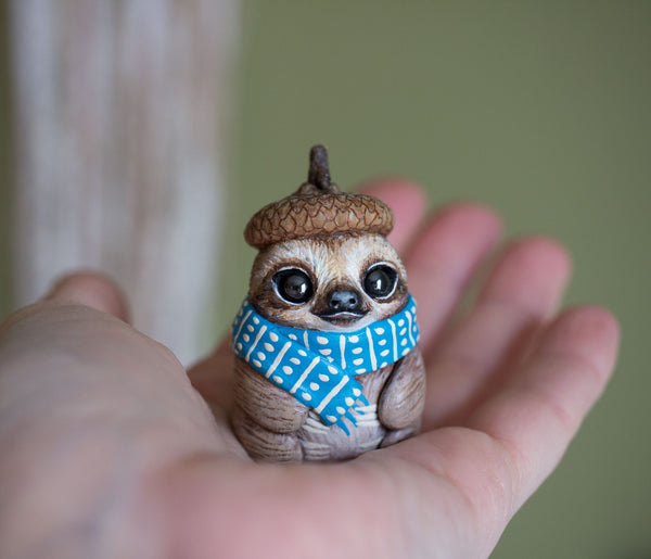 RESERVED Cozy Sloth Figurine