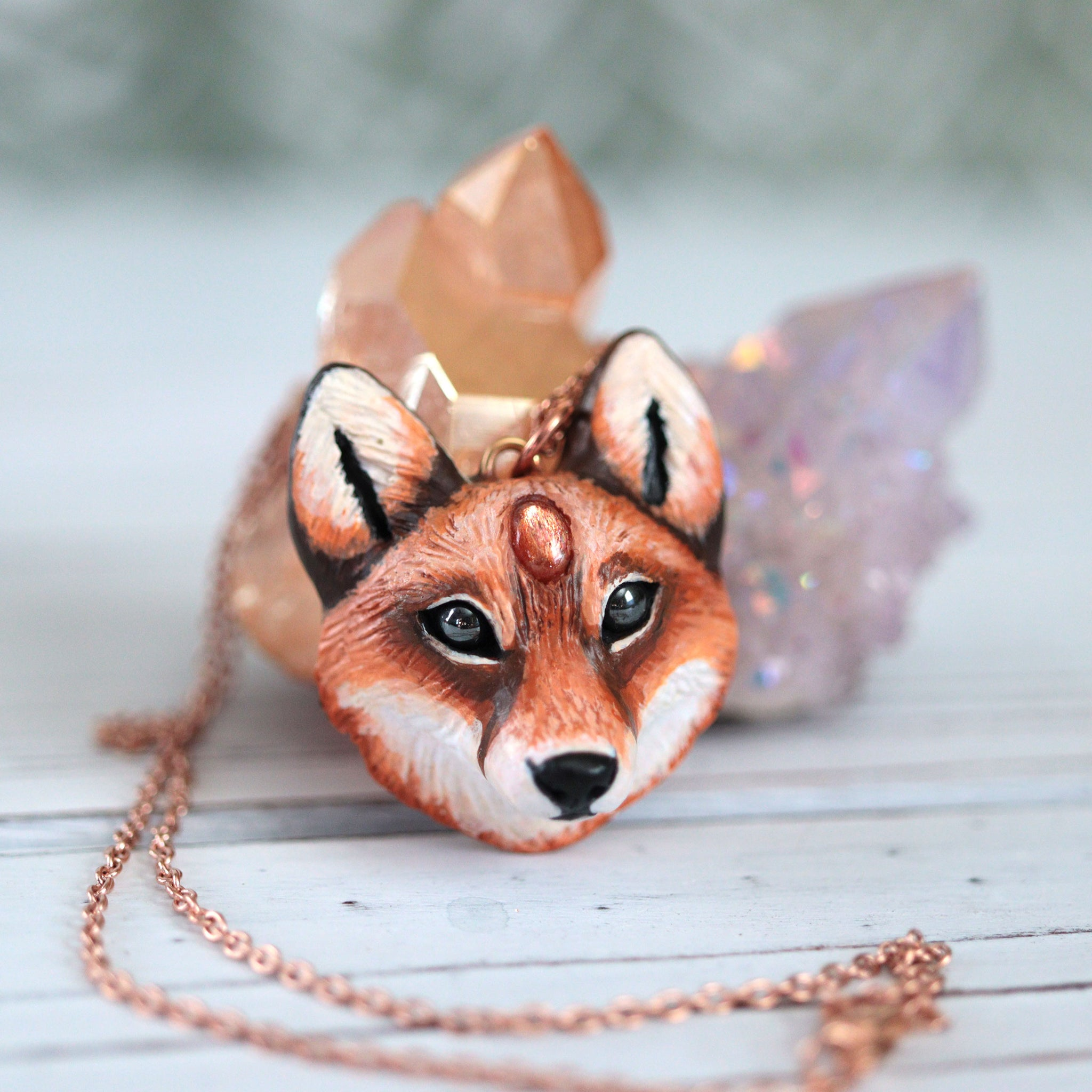 Sunstone Fox Necklace 2