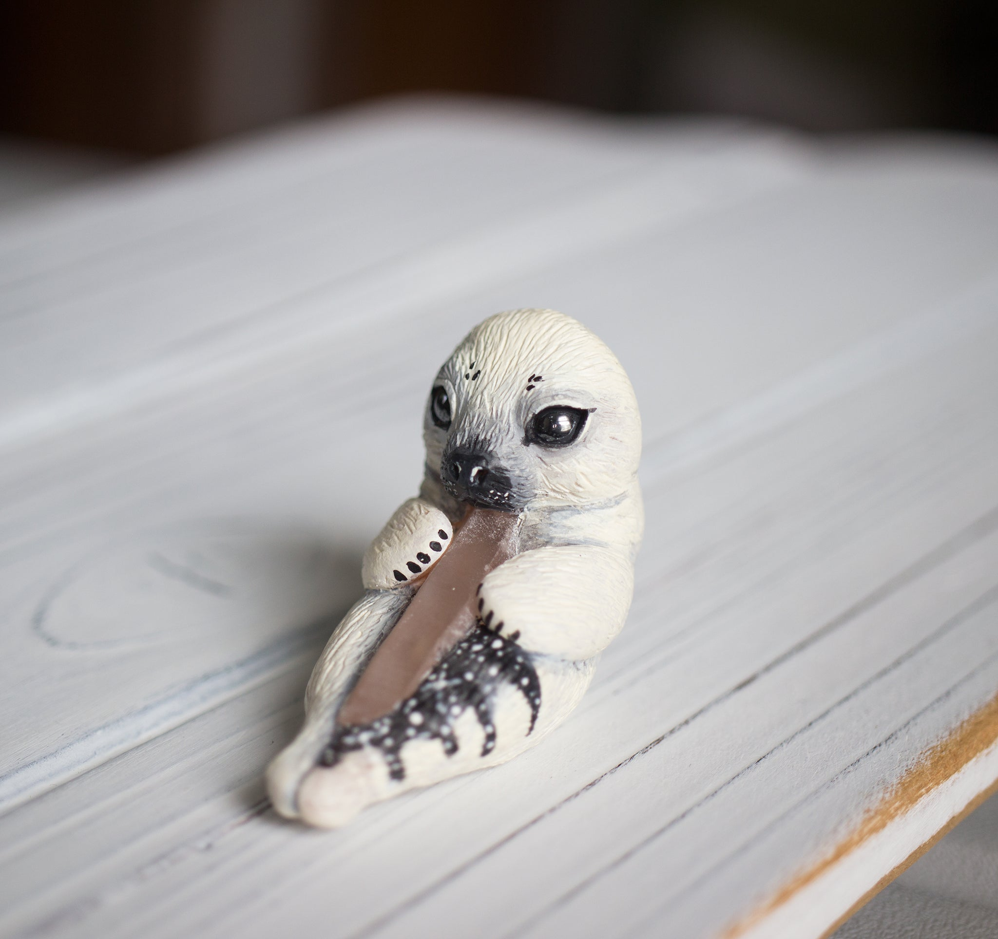 Crystal Seal pup Figurine