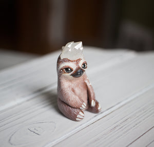 Starry Crystal Sloth Figurine