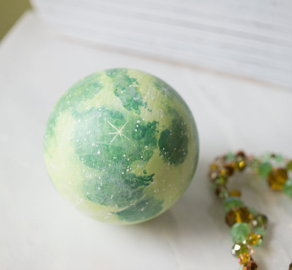 RESERVED Green Moon Orb