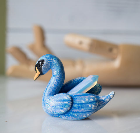 Blue Swan Figurine