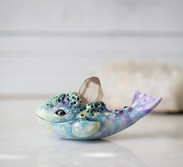 Candy Colored Whale figurine