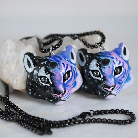 Black Opal Tiger Necklace