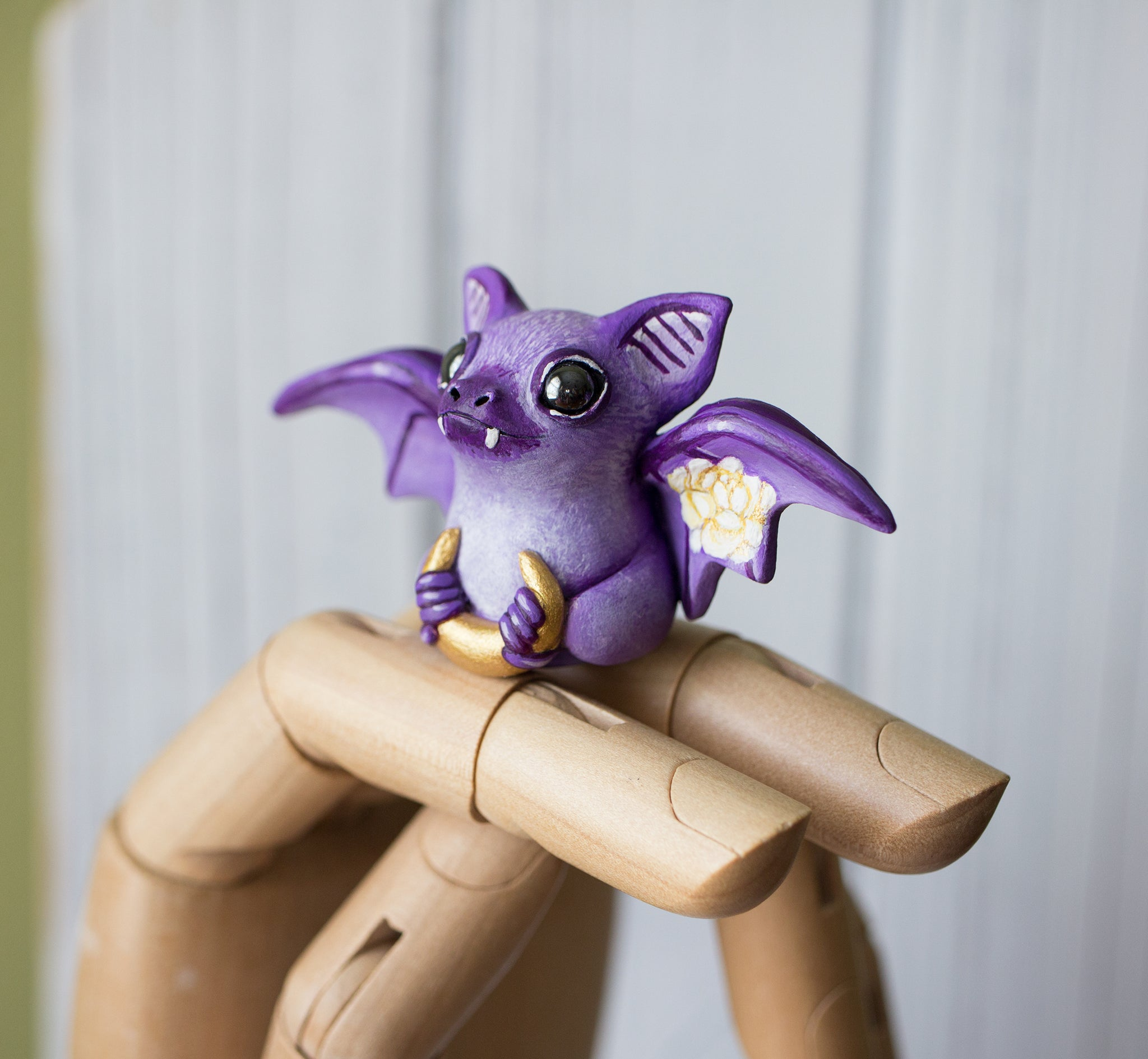 Purple Bat Figurine