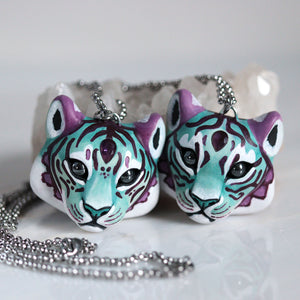 Amethyst Tiger Necklace