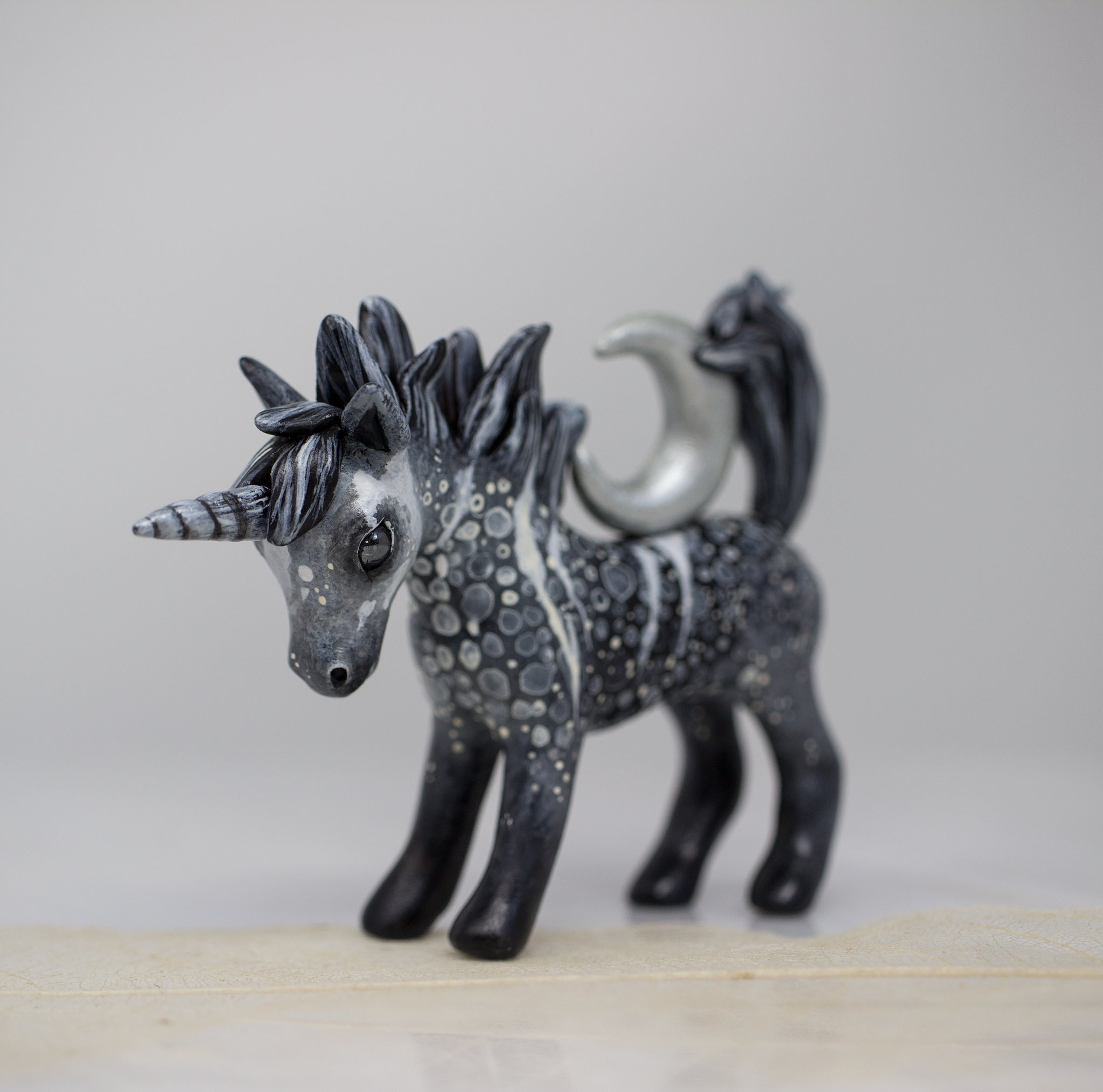 Silver Moon Unicorn Figurine