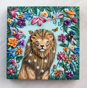 Lion's Garden Painting