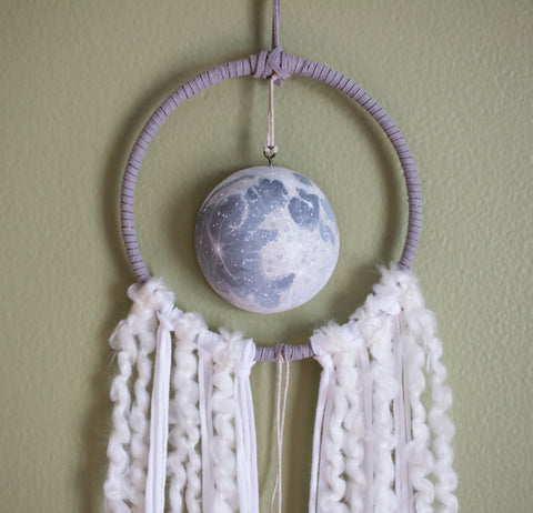 Moon Catcher Hoop Art Wall Hanging