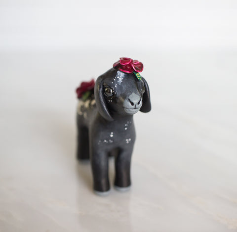 Black Goat Figurine