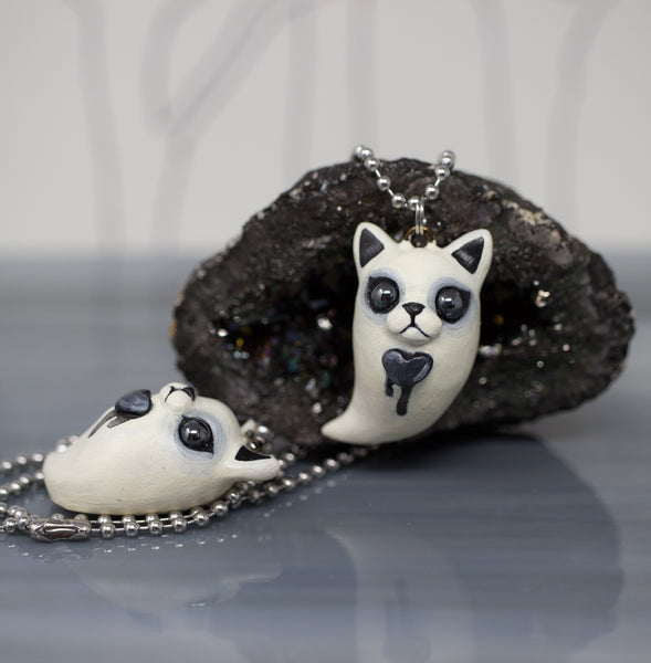 Kitty Ghost Pendant