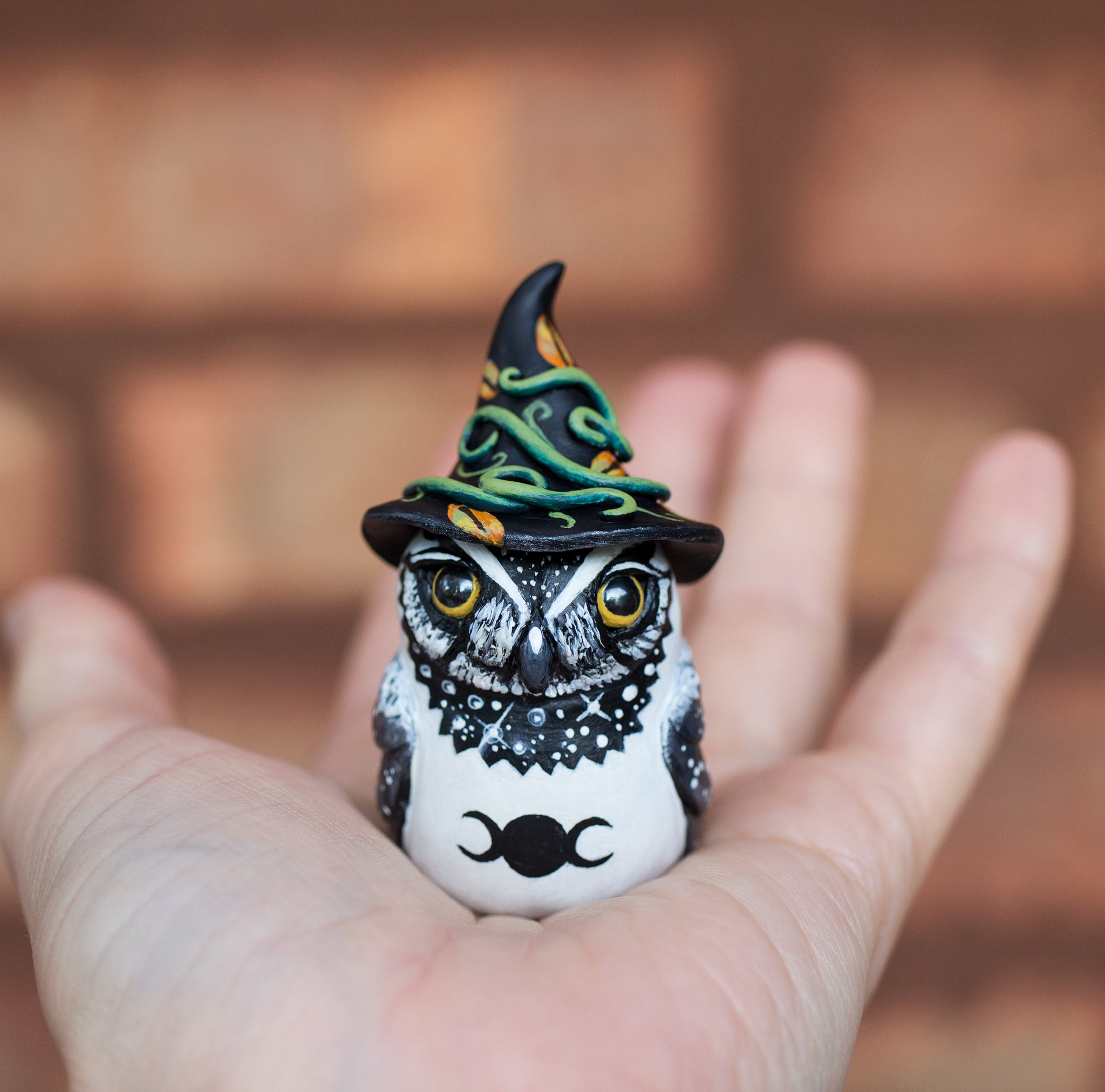 Owl Witch Figurine