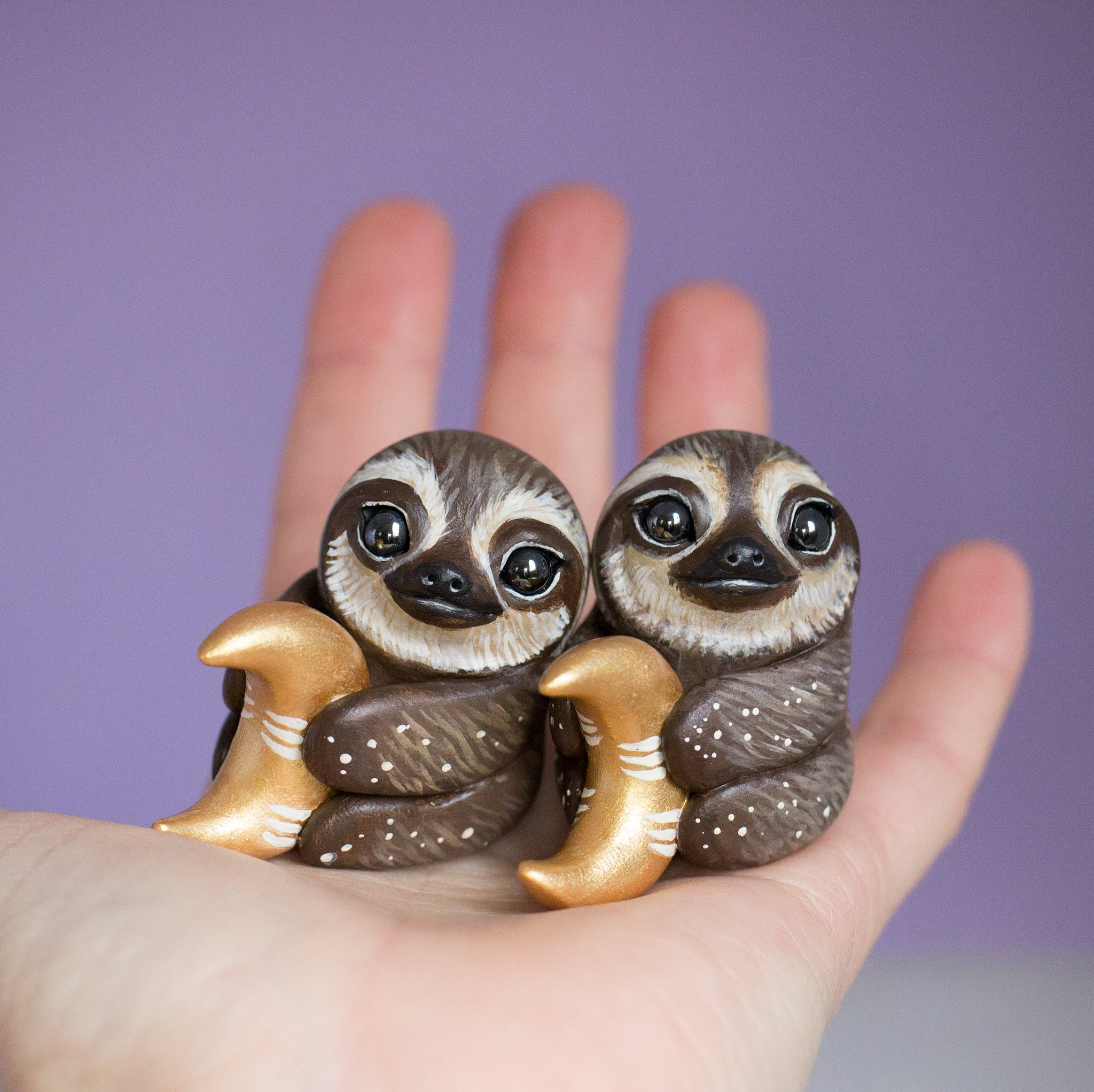 Moon sloth figurine