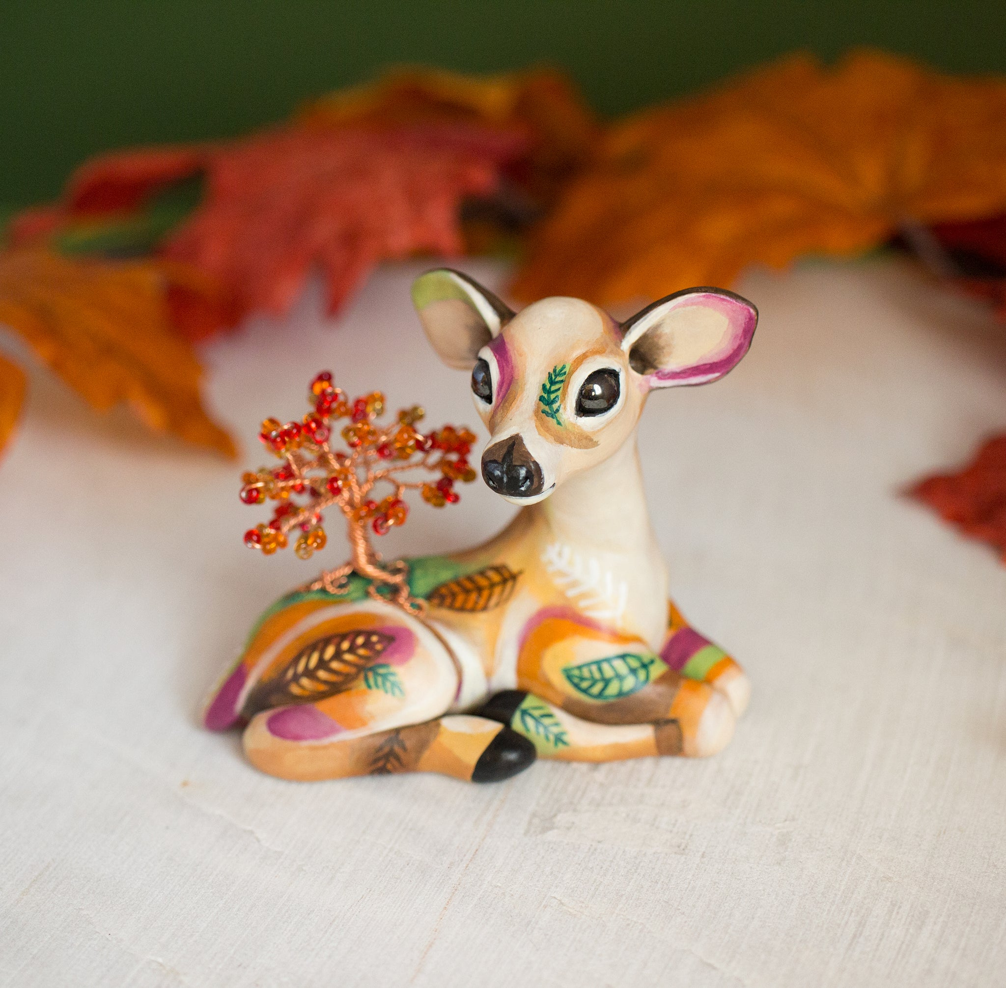 Autumn Doe Figurine