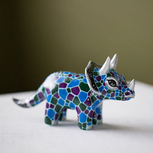 RESERVED Triceratops Figurine