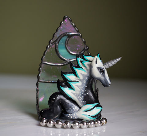 Unicorn Dragon Figurine with Stand