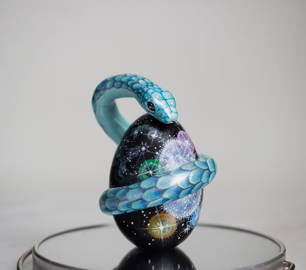 Cosmic Egg and Serpent Sculpture