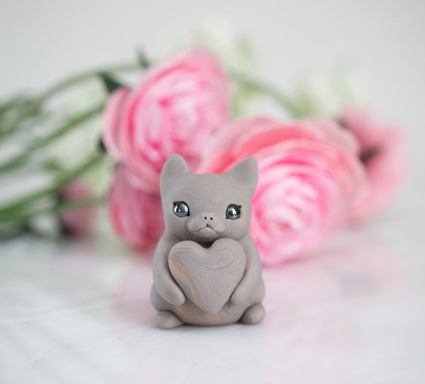 Custom Painted Cat Figurine