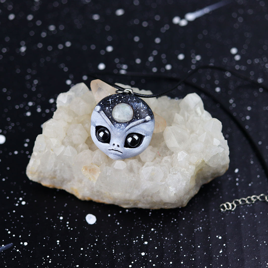 Moonstone Alien Necklace