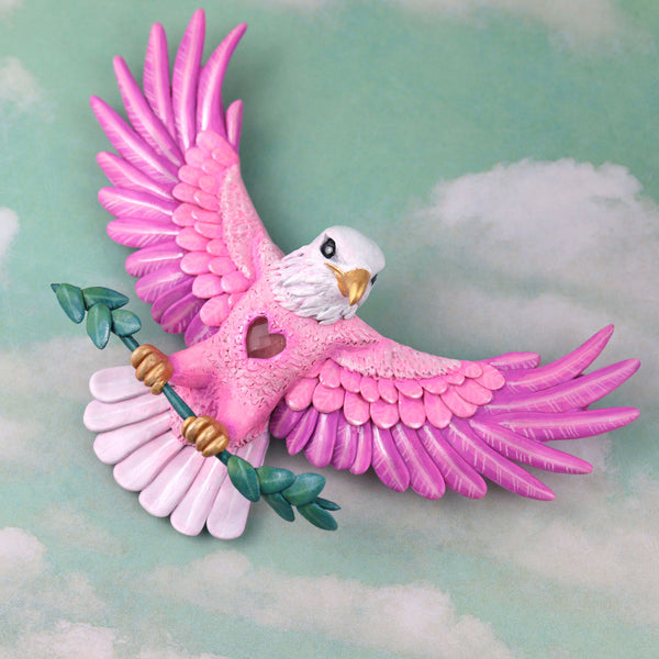 Pink Eagle Wall Figurine