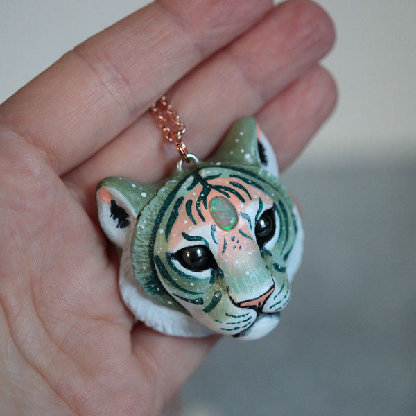 Opal Tiger Necklace