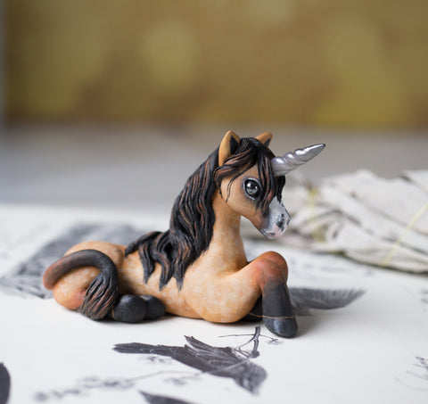 Tan Unicorn Figurine