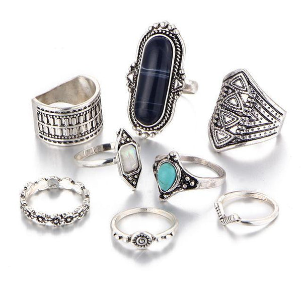 8pcs/set Ring - Summer Fashionista