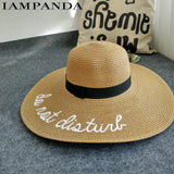 """Do Not Disturb"" Beach Straw Hat - Summer Fashionista"