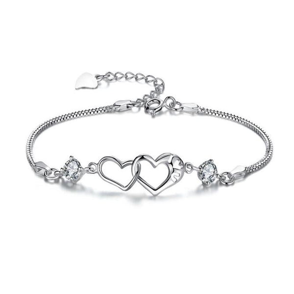 Fashion Contracted Heart-Shaped Bracelet - Summer Fashionista